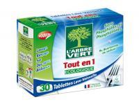 Arbre vert tablettes lave-vaisselle tout en un pour 10€