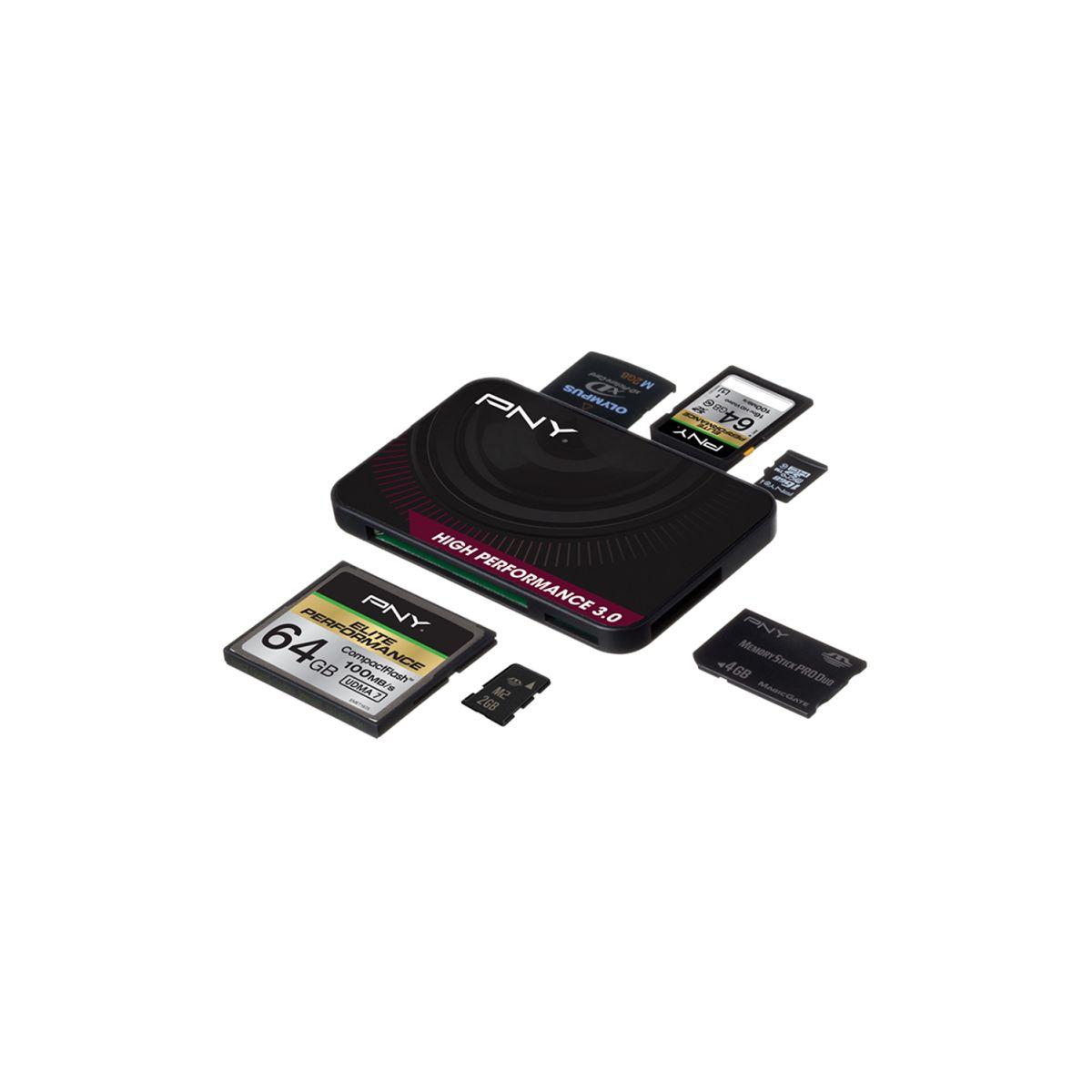 Lecteur pny carte mémoire - usb 3.0 - 2% de remise immédiate avec le code : fete2
