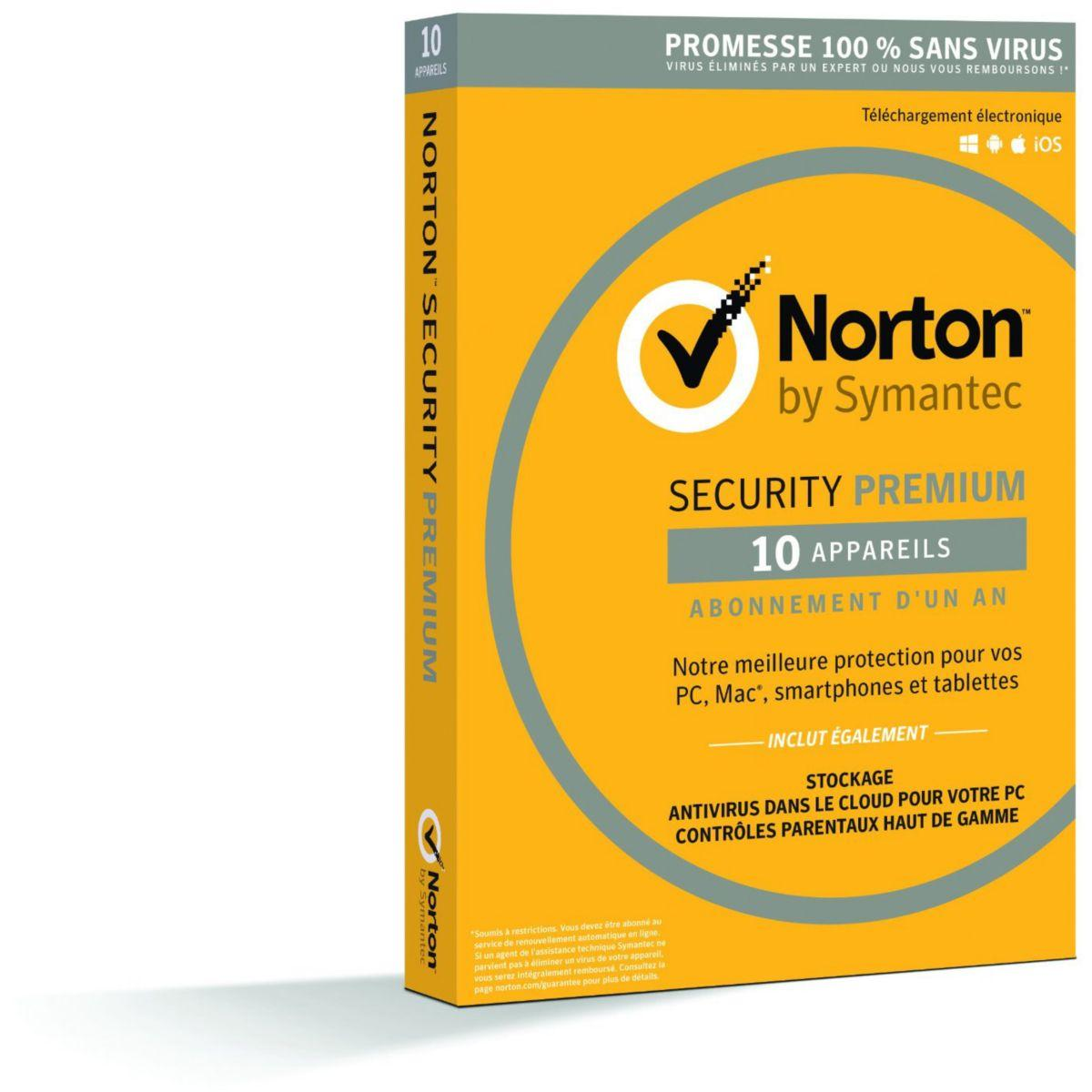 Logiciel antivirus et optimisation symantec norton security 20...