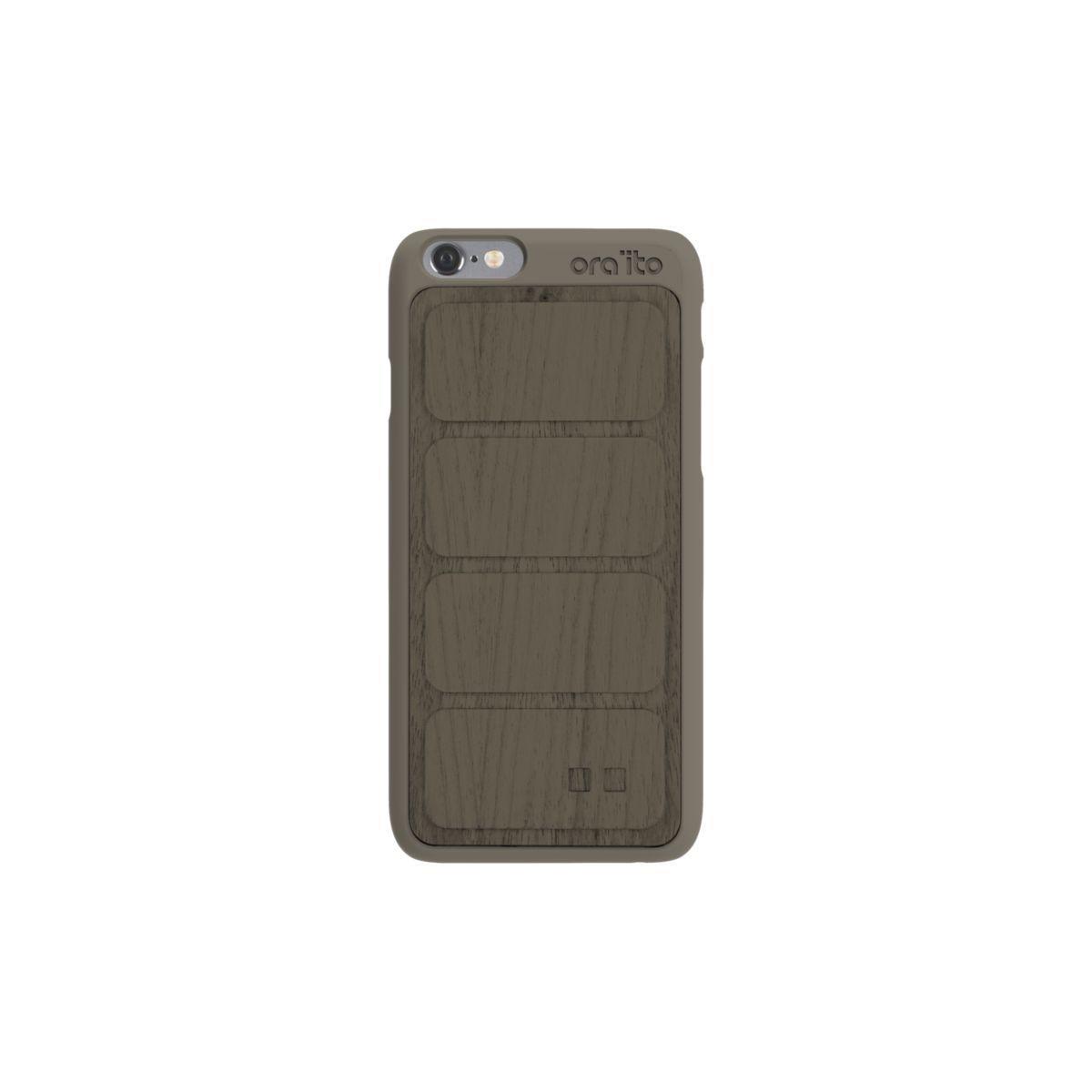 Coque ora ito iphone 6/6s en bois gris - 2% de remise imm�diate avec le code : wd2
