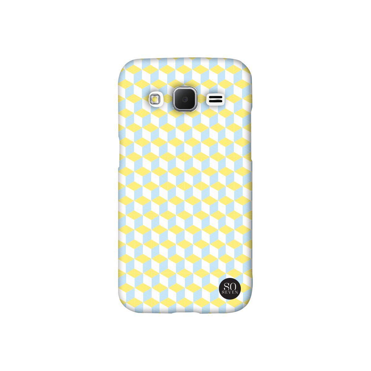 Coque so seven retro cubic vert jaune iphone 6/6s