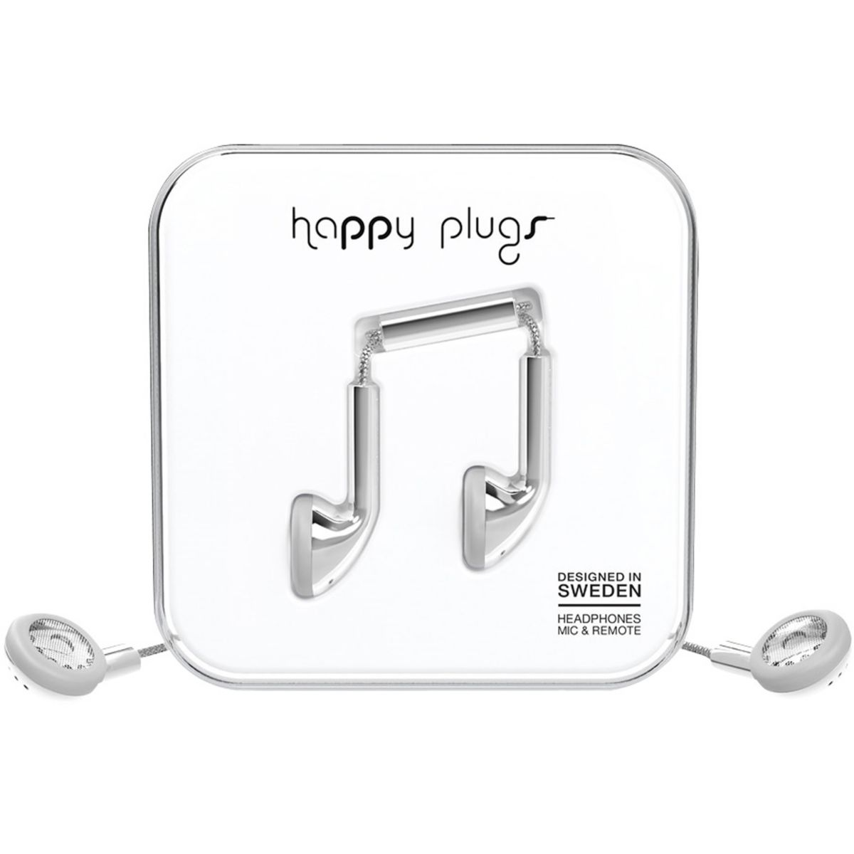 Ecouteurs avec micro happy plugs deluxe edition earbud silver ...