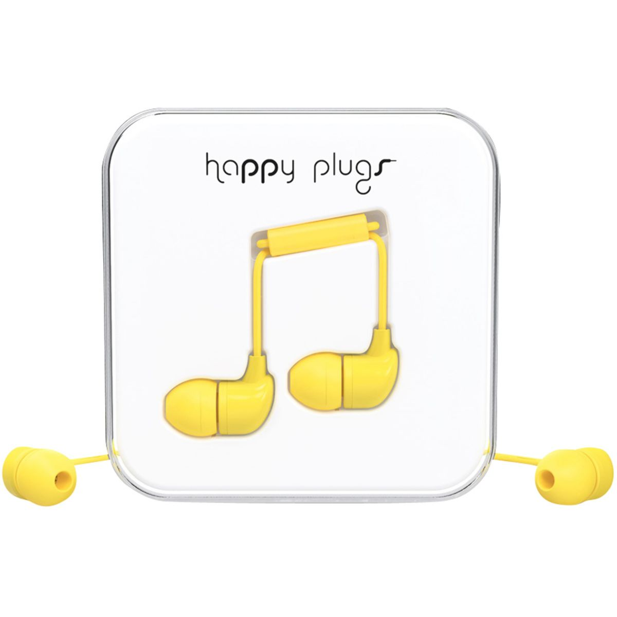 Ecouteurs avec micro happy plugs in-ear yellow