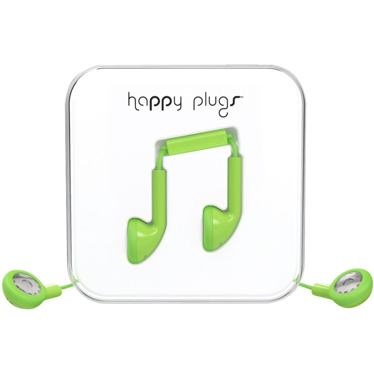Ecouteurs avec micro happy plugs earbud mint - soldes et bons plans