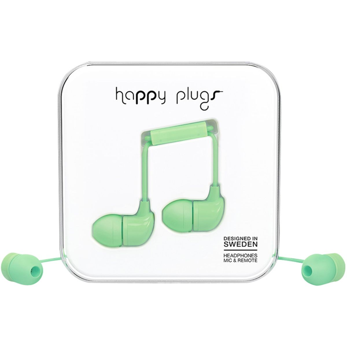 Ecouteurs avec micro happy plugs in-ear mint
