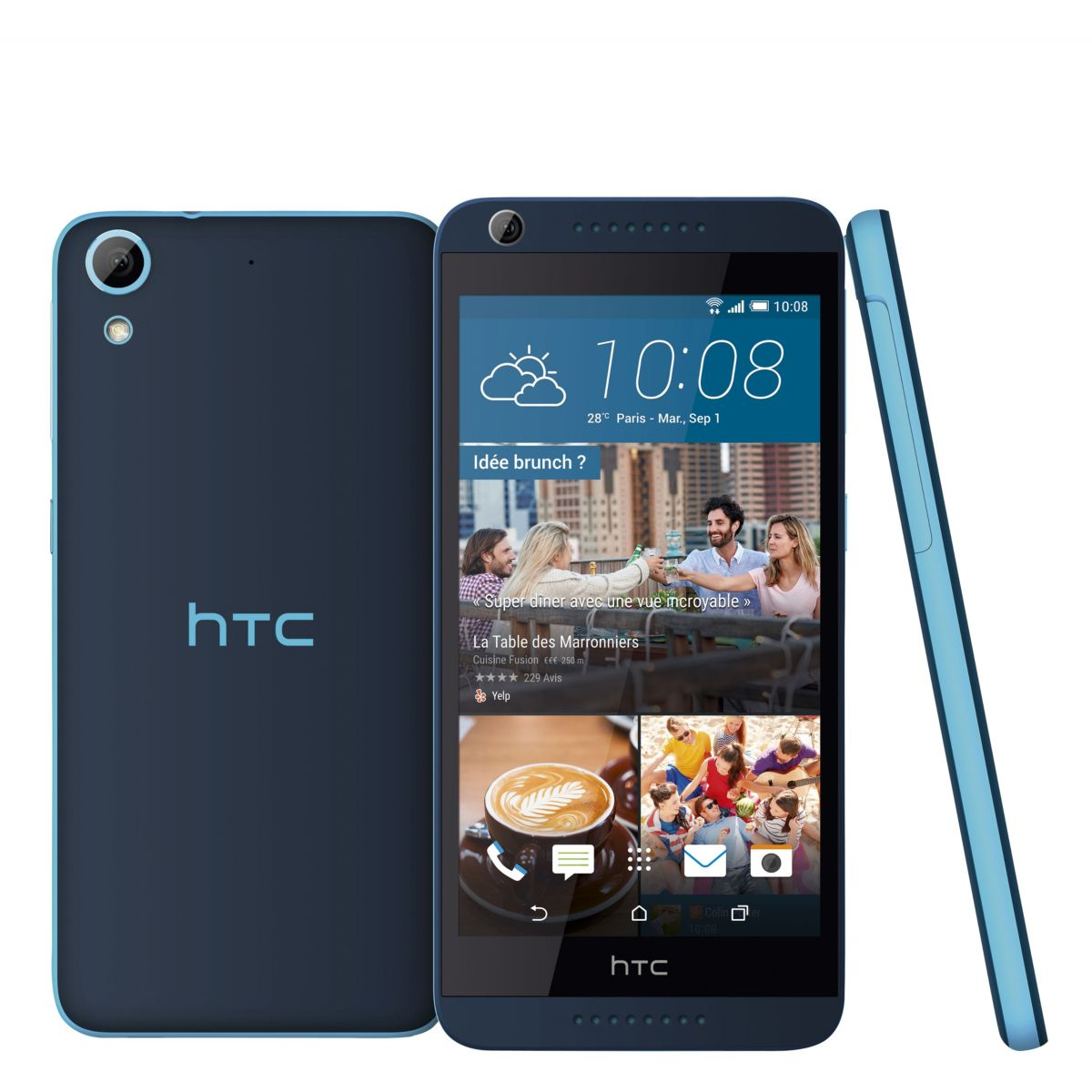 Smartphone htc desire 626 bleu