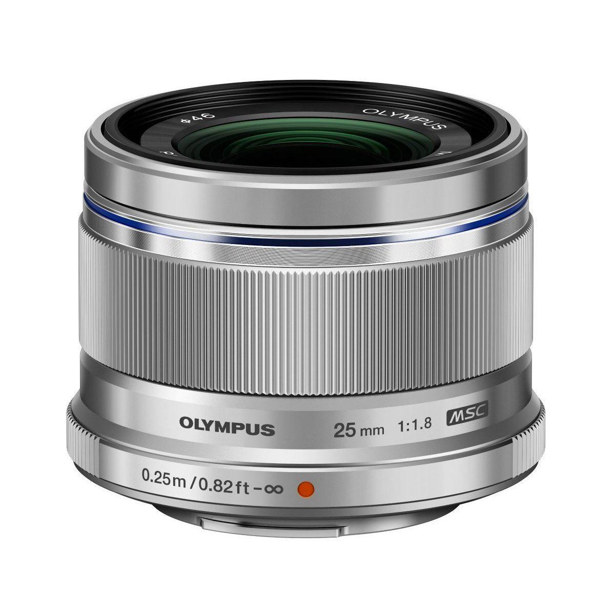 Objectif olympus 25mm 1:1.8 silver m.zuiko digital