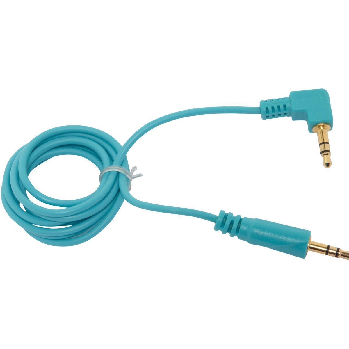 C�ble oglo jack 3,5 mm oglo# loops bleu (photo)