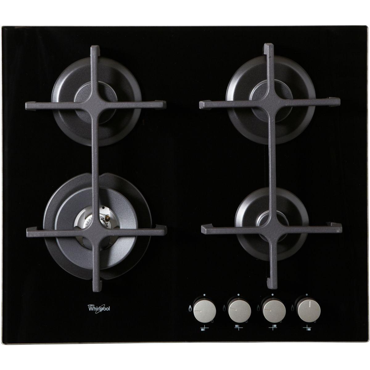 Table de cuisson gaz whirlpool akt7000nb - livraison offerte :...