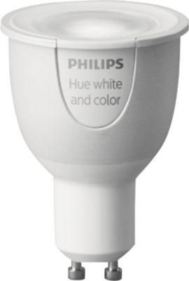 Ampoule connectable philips hue spot gu10 6.5w white & colors - livraison offerte : code liv (photo)