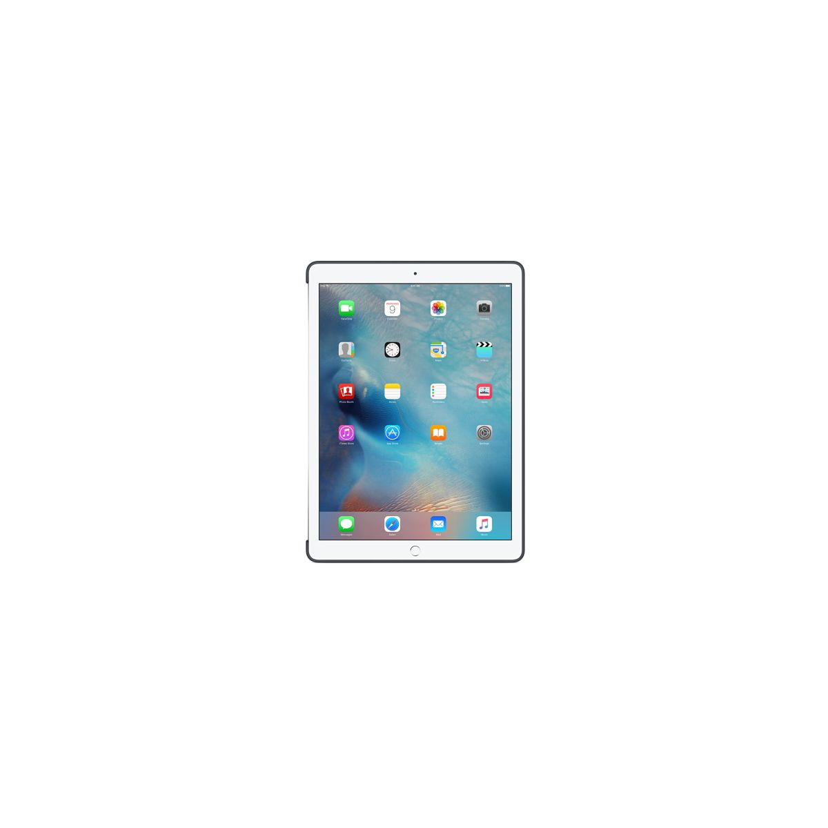 Coque apple ipad pro silicone gris anthracite (photo)