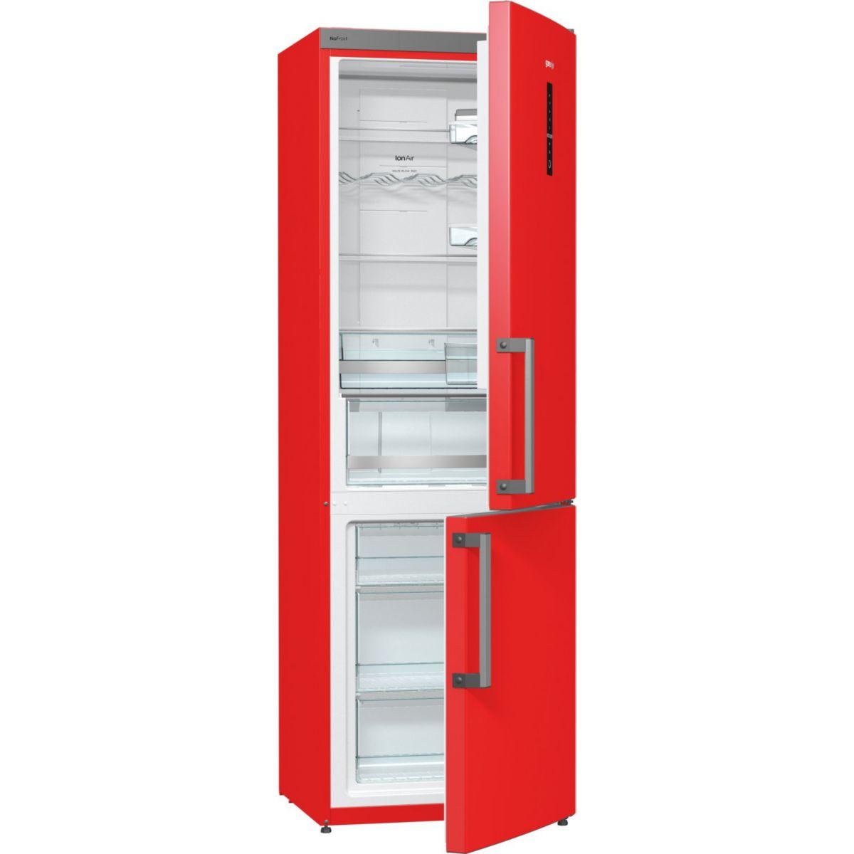 Réfrigérateur congélateur en bas gorenje nrk6192mrd - 20% de remise : code gam20 (photo)