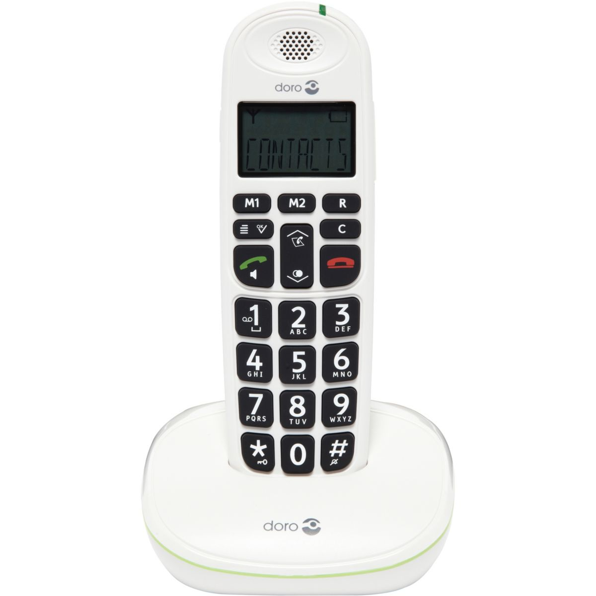 Téléphone répondeur sans fil duo doro 5541 phone easy 100w blanc - 3% de remise immédiate avec le code : multi3 (photo)