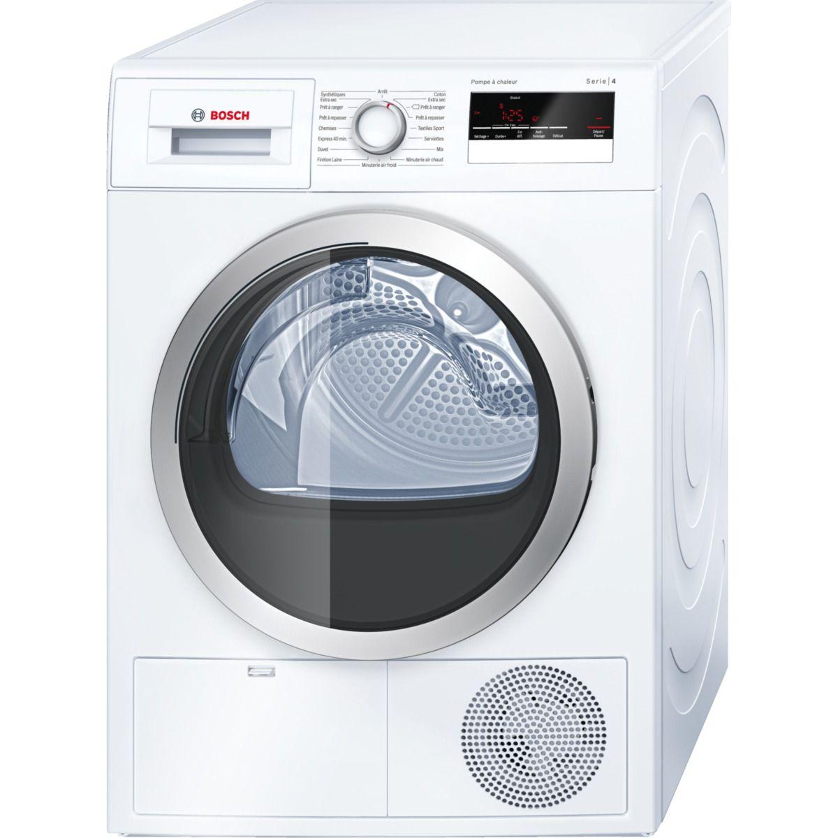 Sèche-linge pompe à chaleur bosch wth 85290ff 8kg - 7% de remise immédiate avec le code : clean7 (photo)