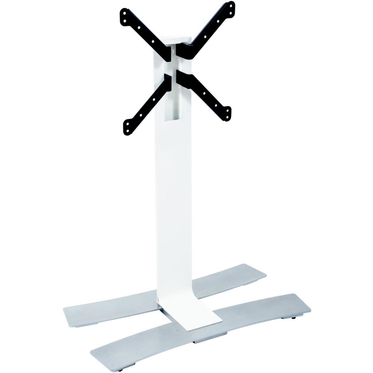 Meuble tv erard will 1050l 30-55p blanc+tabl & roues - 20%...