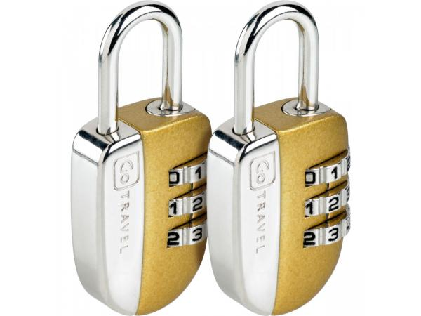 Cadenas go travel 3 combinaisons (lot de 2) - 3% de remise immédiate avec le code : multi3 (photo)