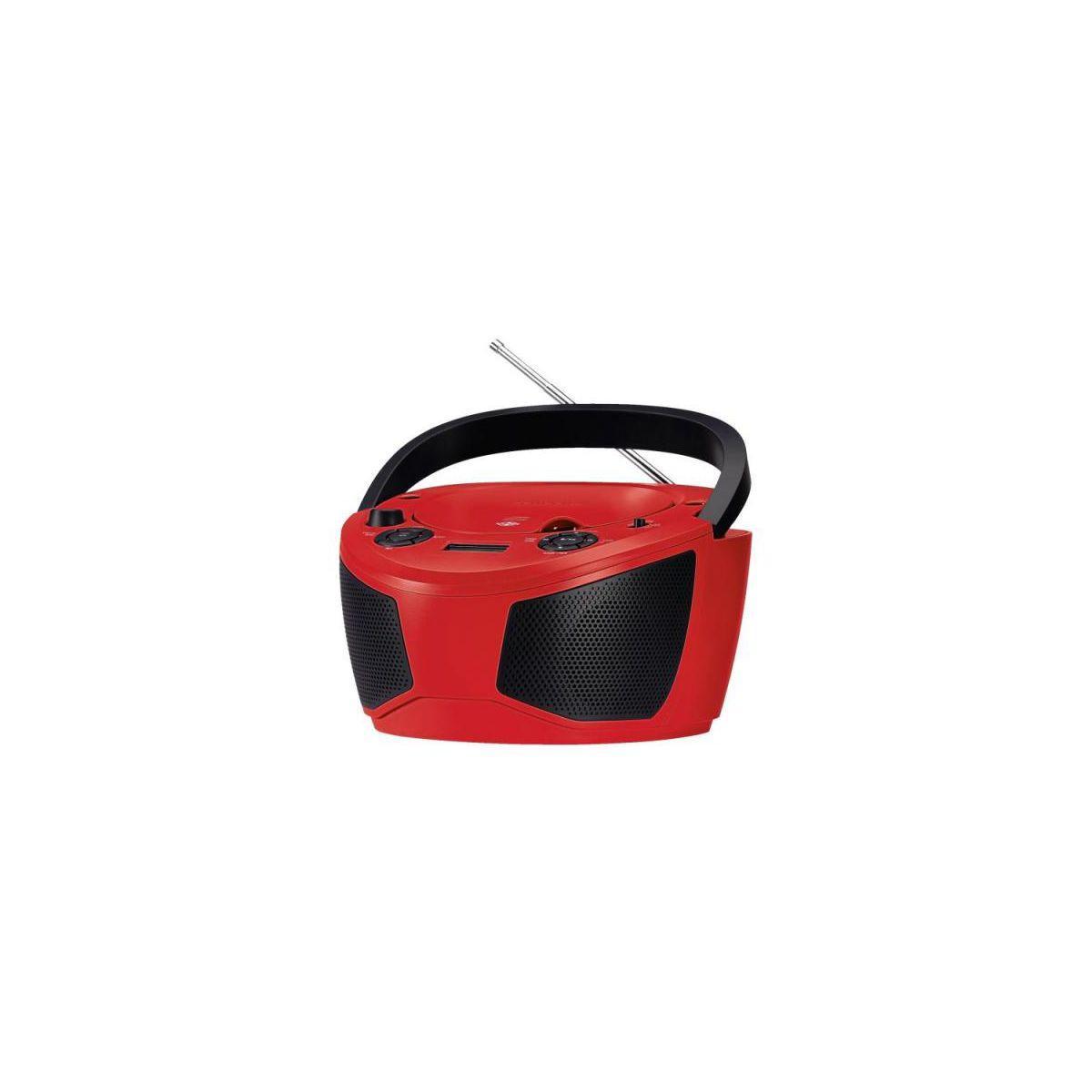 Radio cd grundig rcd1050re rouge - livraison offerte avec le code nouveaute
