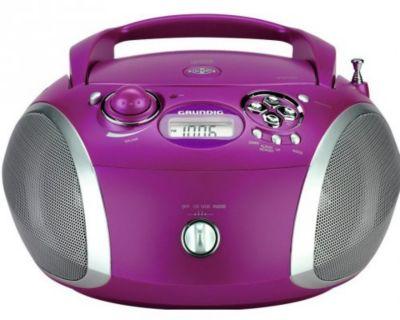 Radio cd grundig rcd1445pu violet - livraison offerte avec le code nouveaute