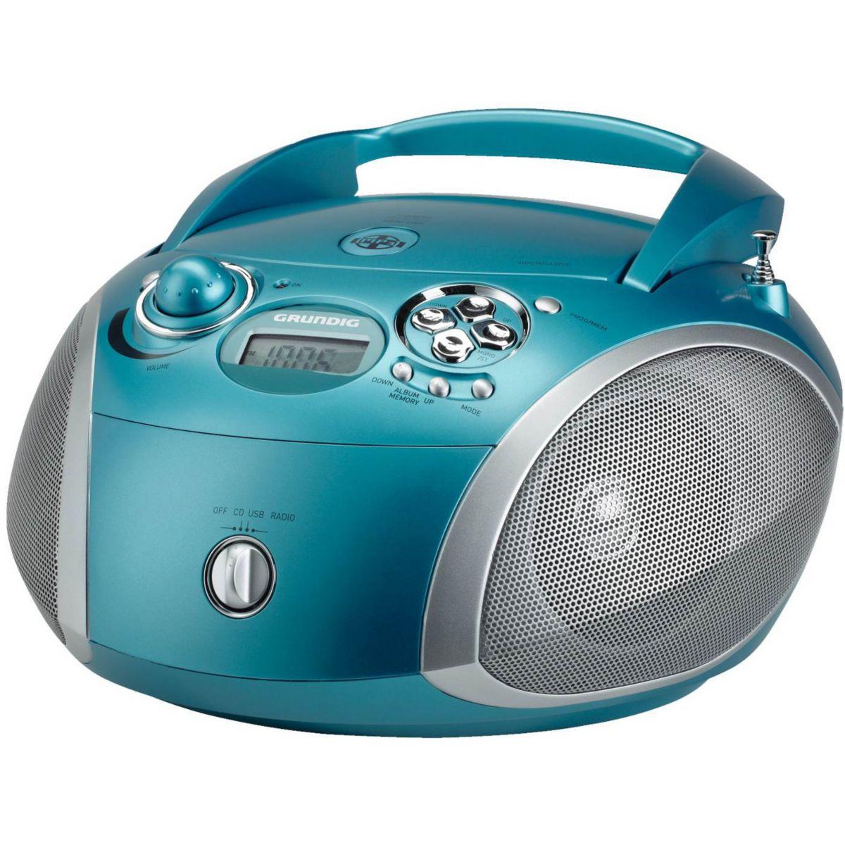 Radio cd grundig rcd1445 turquoise - livraison offerte : code ...