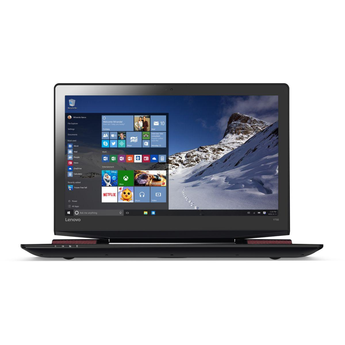 Pc portable lenovo ideapad y700-17isk-80q0003vfr - 10 % de remise : code pc10 (photo)