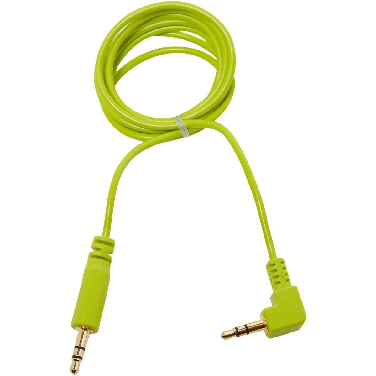 C�ble oglo jack 3,5 mm oglo# loops vert (photo)