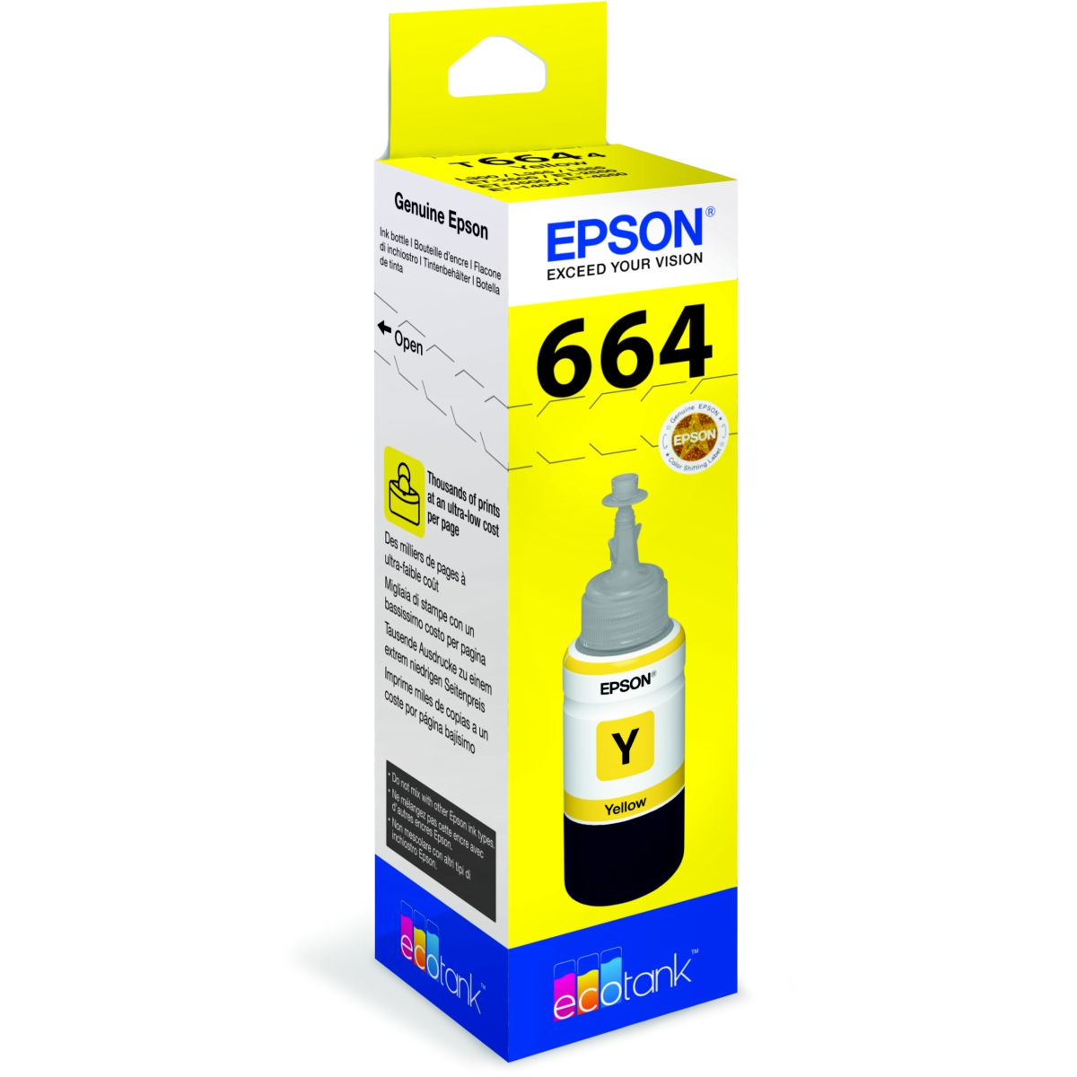 Cartouche d'encre epson ecotank bouteille jaune t6644