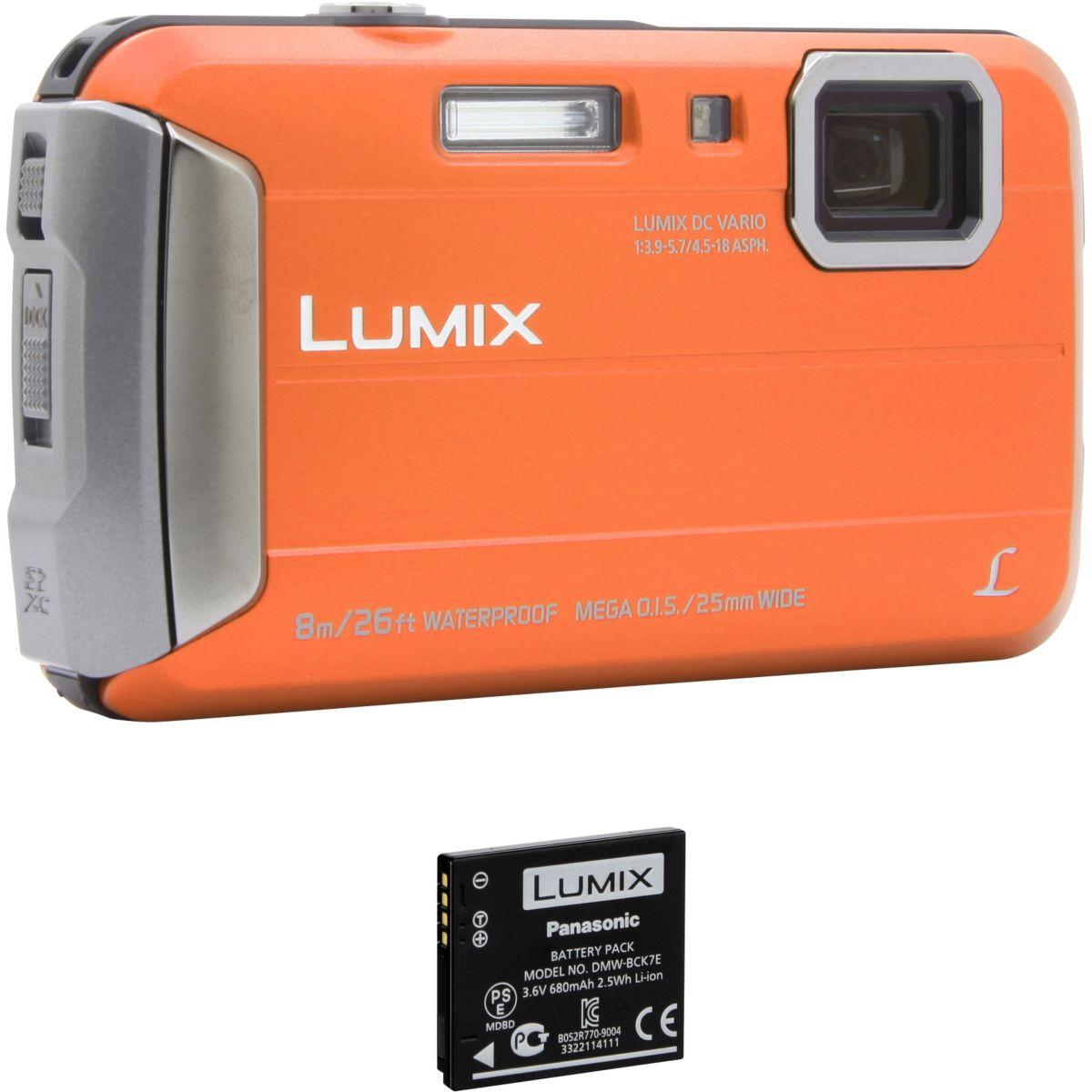 Appareil photo compact panasonic dmc-ft30 orange + 2?me batter...