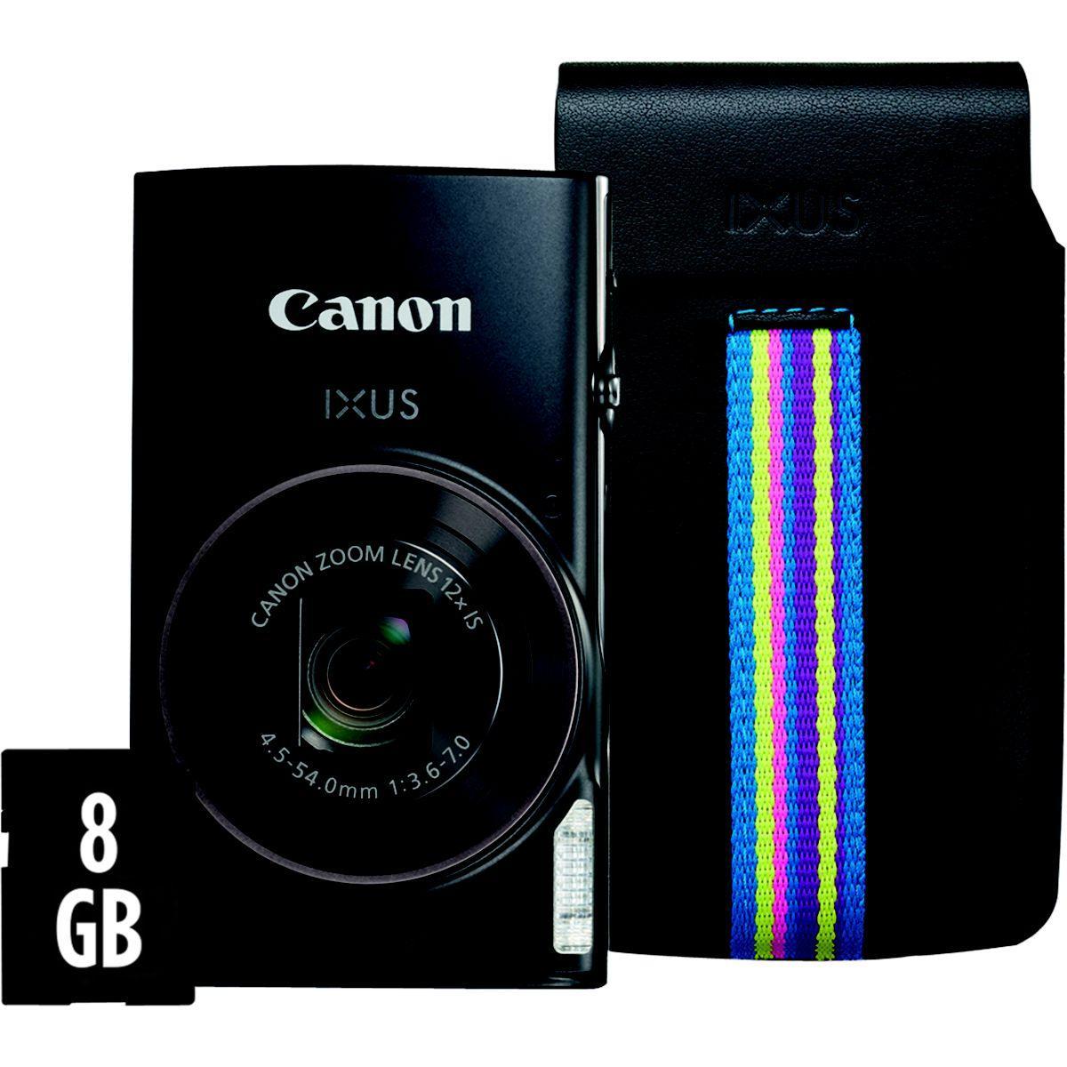 Appareil photo compact canon ixus 285 hs noir + etui + sd 8go - livraison offerte : code livphoto (photo)