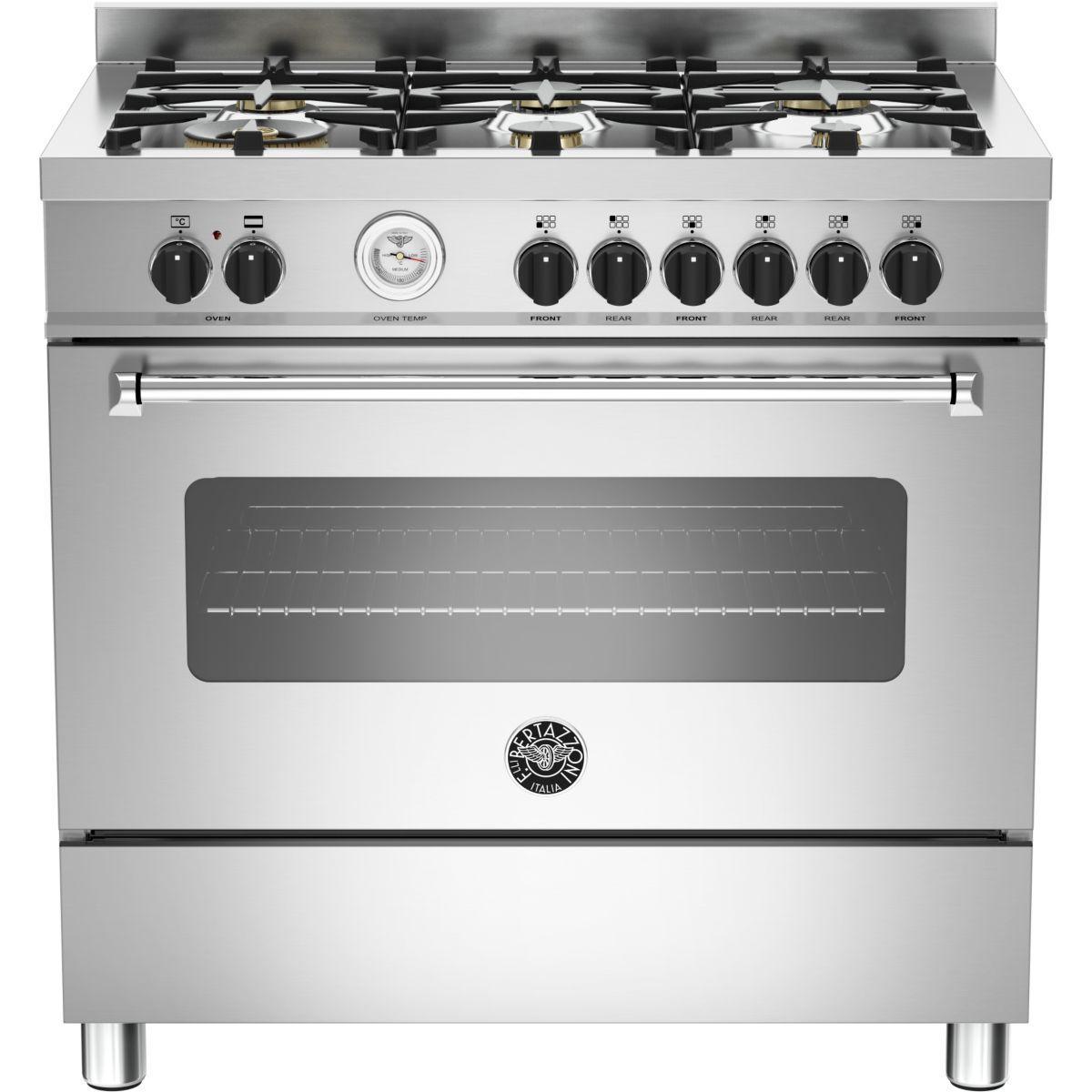 Cuisinière gaz bertazzoni mas90 6 mfe s xt - produit coup de coeur webdistrib.com ! (photo)