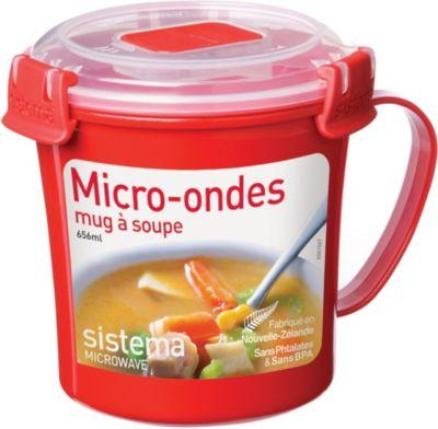 Mug sistema soupe micro-ondes � clips 656 ml (photo)