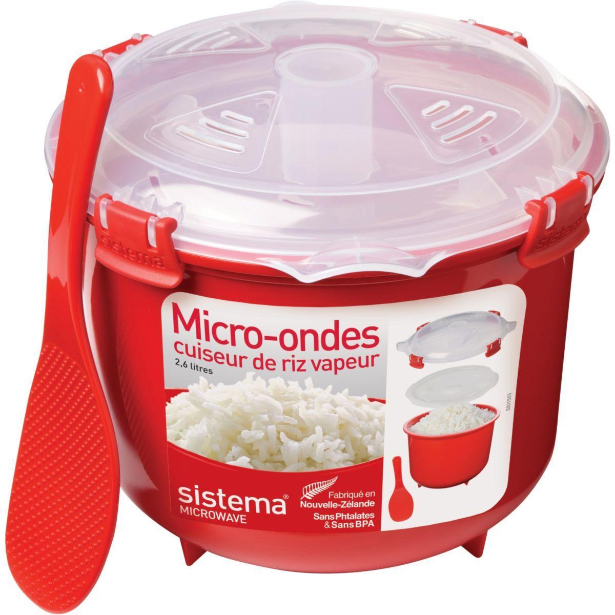 Cuiseur riz sistema vapeur micro-ondes ? clips 2.6 l