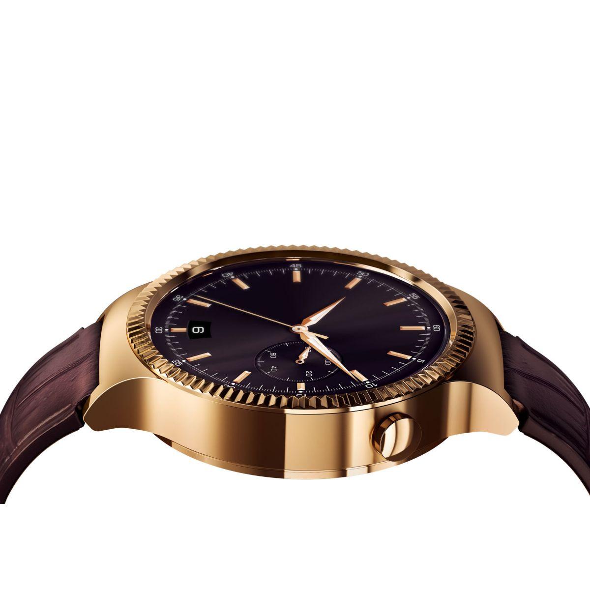 Montre connectée huawei watch elite or/cuir - 15% de remise immédiate avec le code : top15 (photo)
