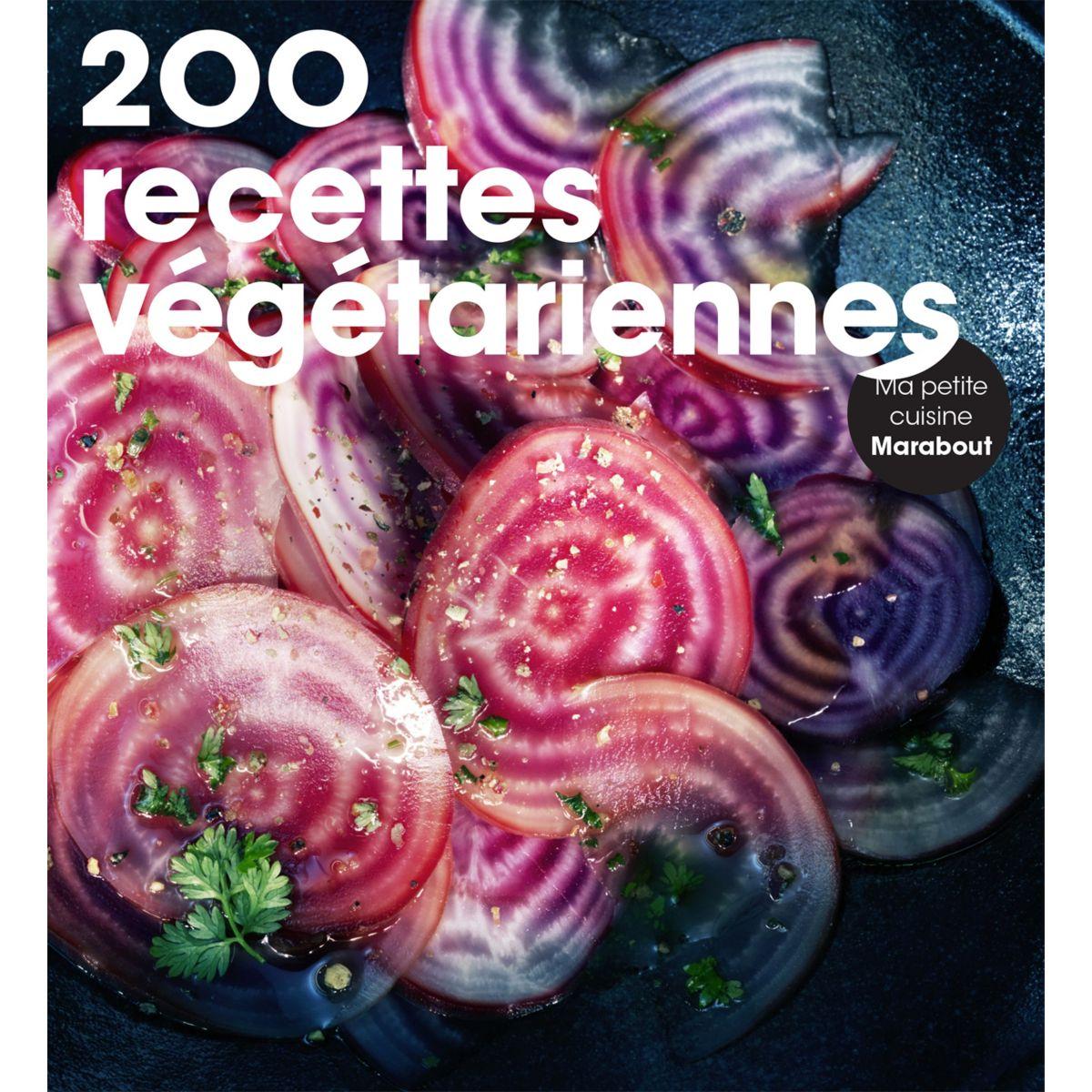 Livre marabout 200 recettes vegetarienne - la sélection webdistrib.com (photo)