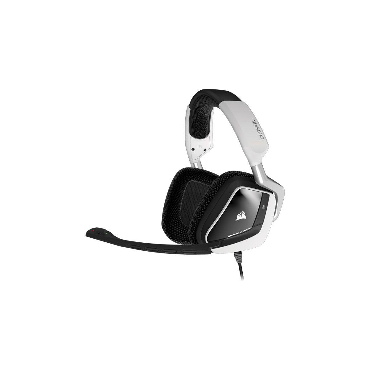 Casque micro gamer corsair void rgb usb dolby 7.1 blanc (photo)