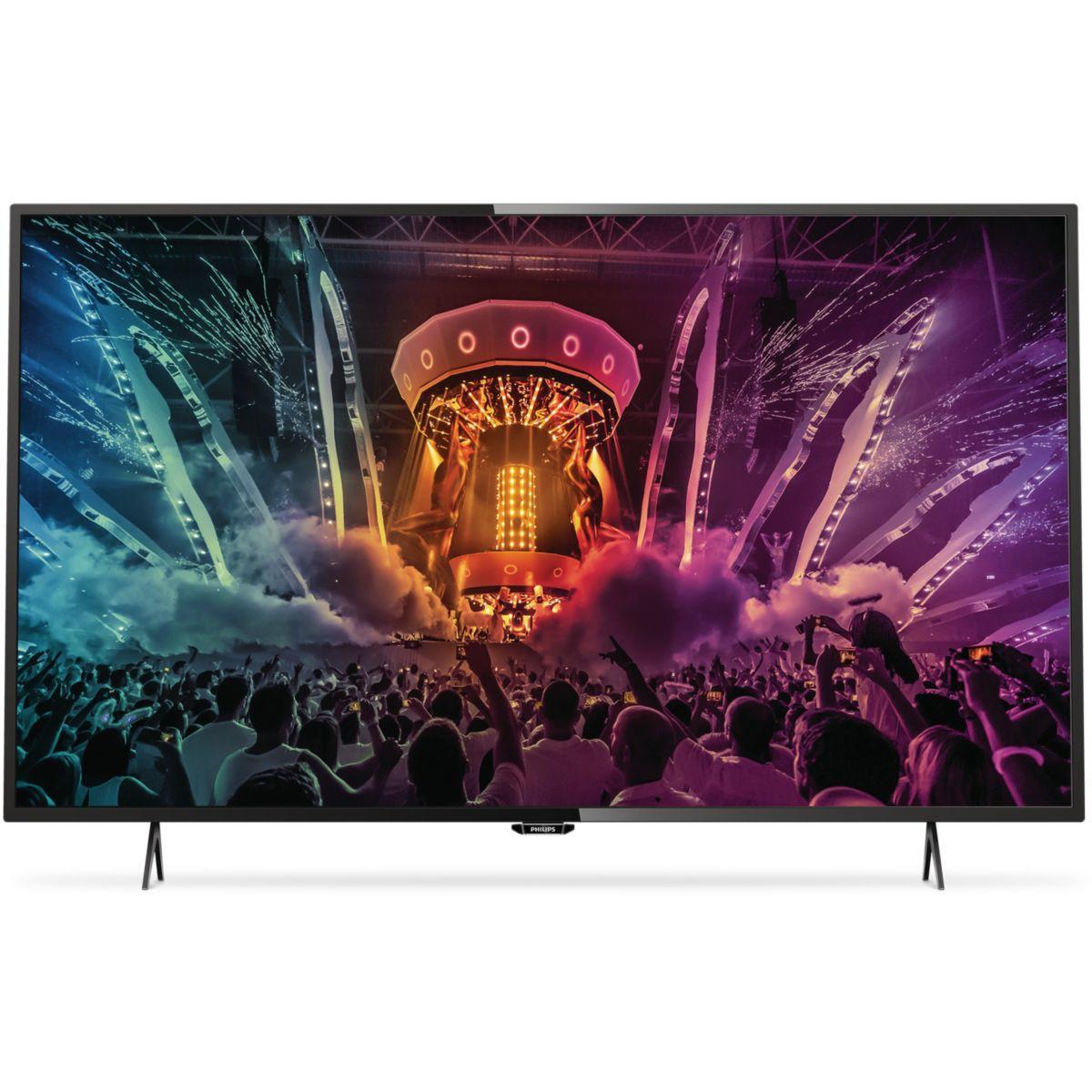 Tv philips 55puh6101 4k 800 ppi smart tv - livraison offerte : code livrentree (photo)