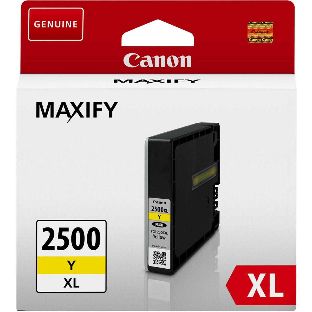 Cartouche d'encre canon pgi 2500 xl jaune - 2% de remise ...