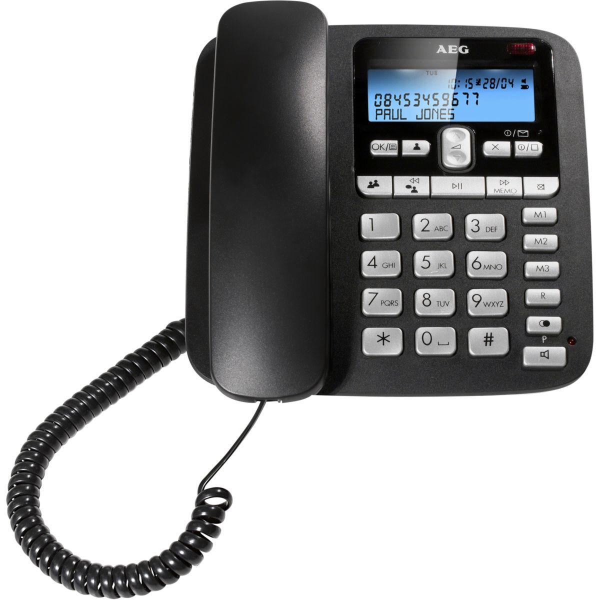 Téléphone répondeur filaire aeg c115 voxtel - 10% de remise immédiate avec le code : wd10 (photo)