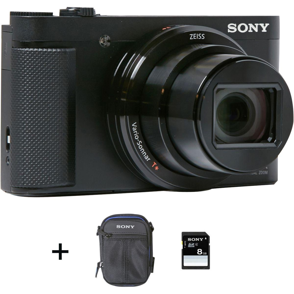 Appareil photo compact sony pack hx80 noir + housse + carte sd 8 go - 10% de remise immédiate avec le code : photo10 (photo)