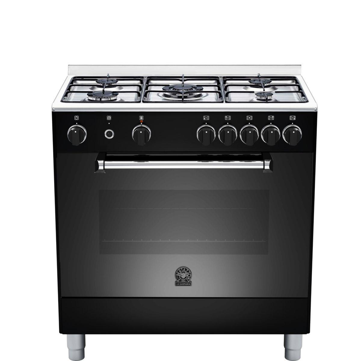 Piano de cuisson gaz bertazzoni germania am85c21dn noir (photo)