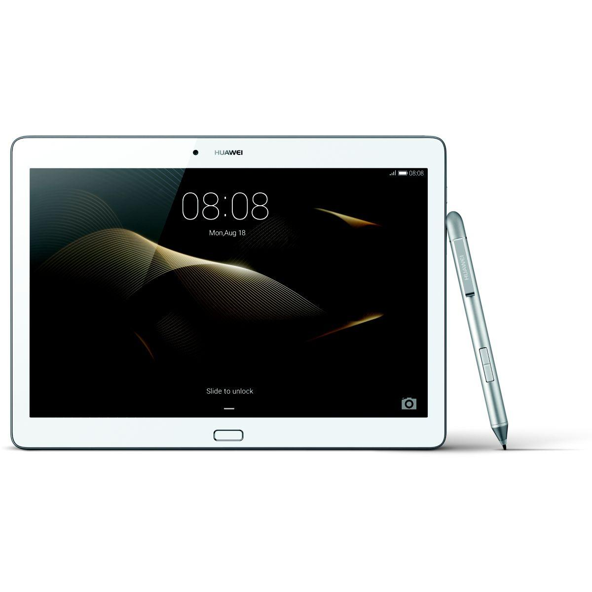 Tablette huawei m2 10 4g 64 go + stylet + case cuir (photo)