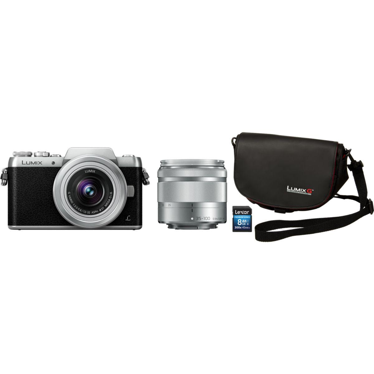 Appareil photo hybride panasonic dmc-gf7 + 12-32 + 35-100 + sa...