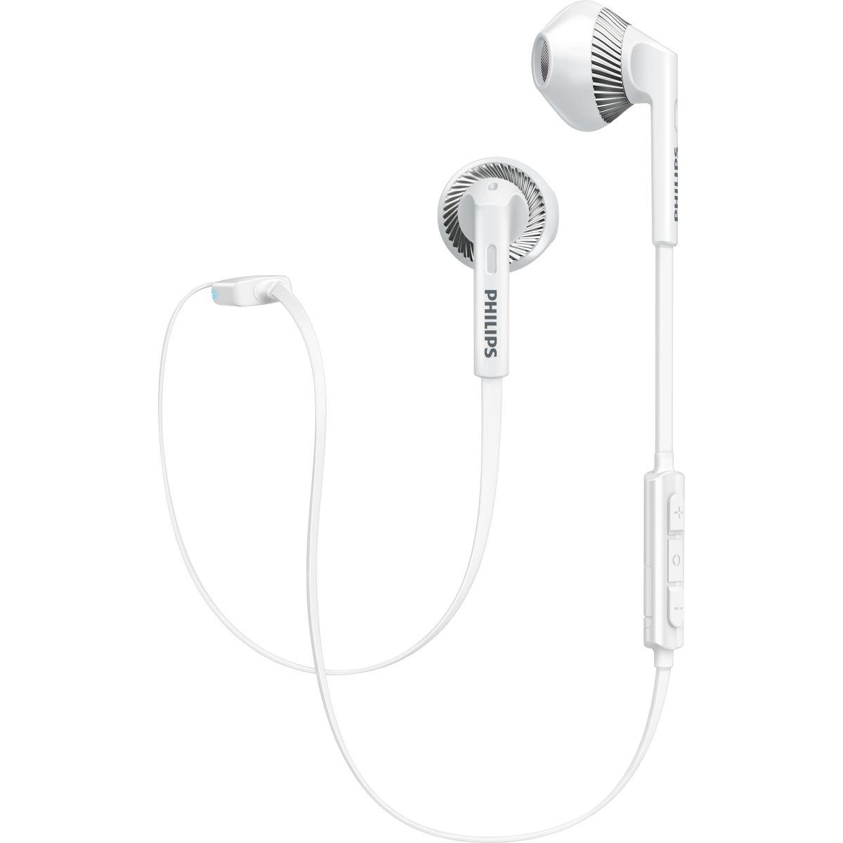 Casque bluetooth philips shb5250 blanc - livraison offerte : code liv (photo)
