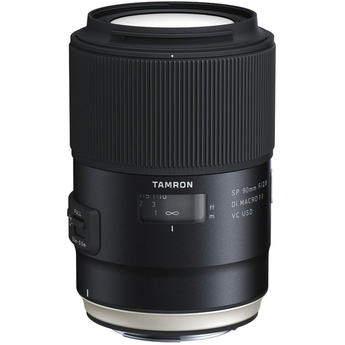 Objectif pour reflex tamron sp 90mm f2.8 di macro vc usd nikon