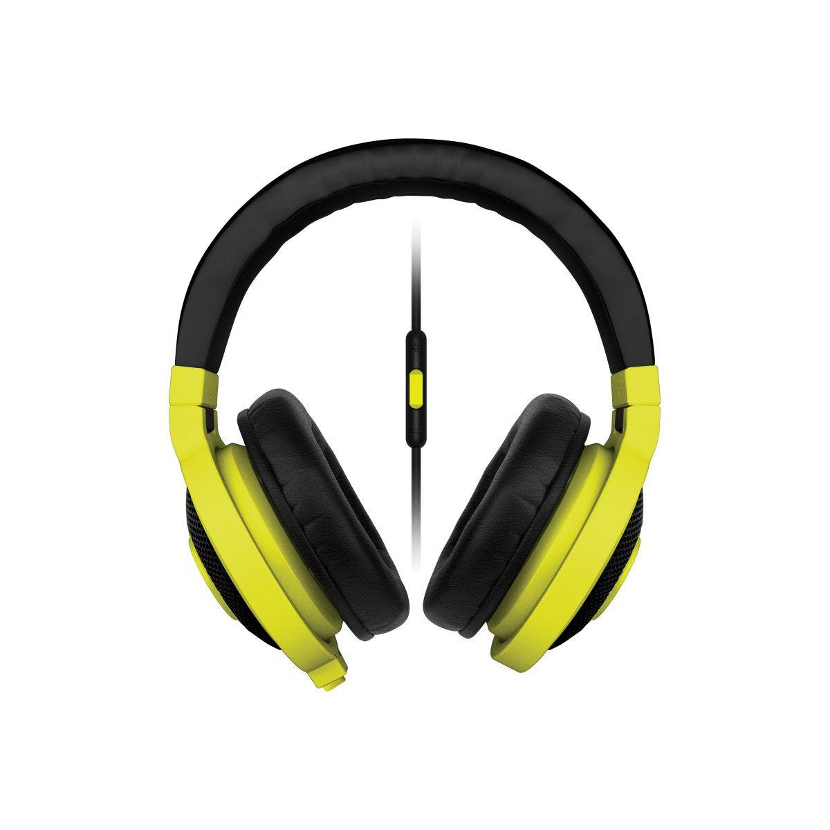 Casque micro gamer razer kraken mobile neon yellow (photo)