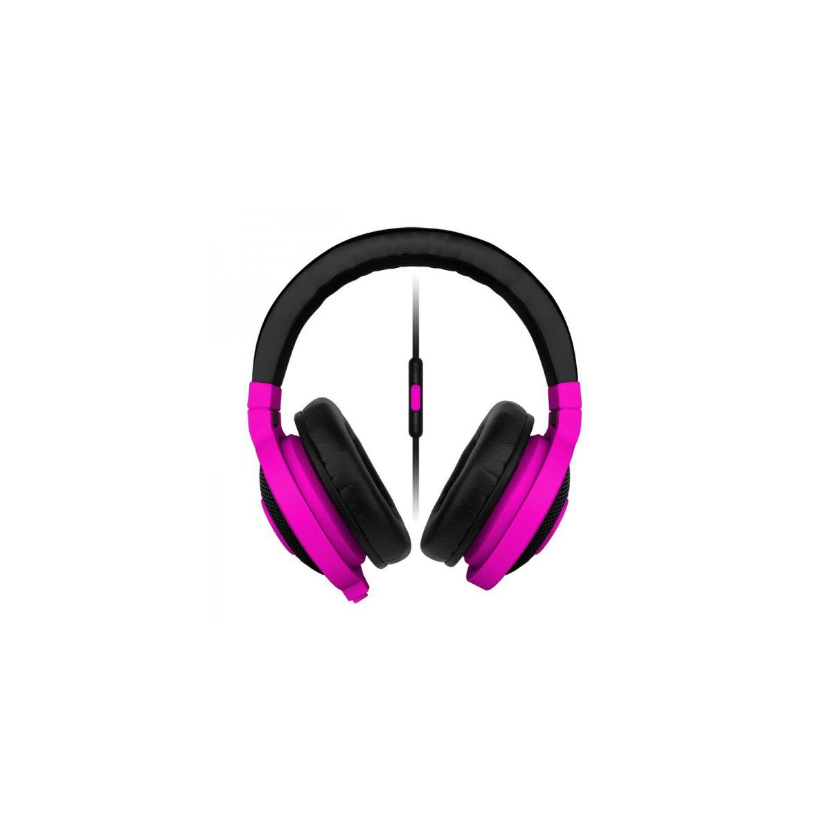Casque micro gamer razer kraken mobile neon purple
