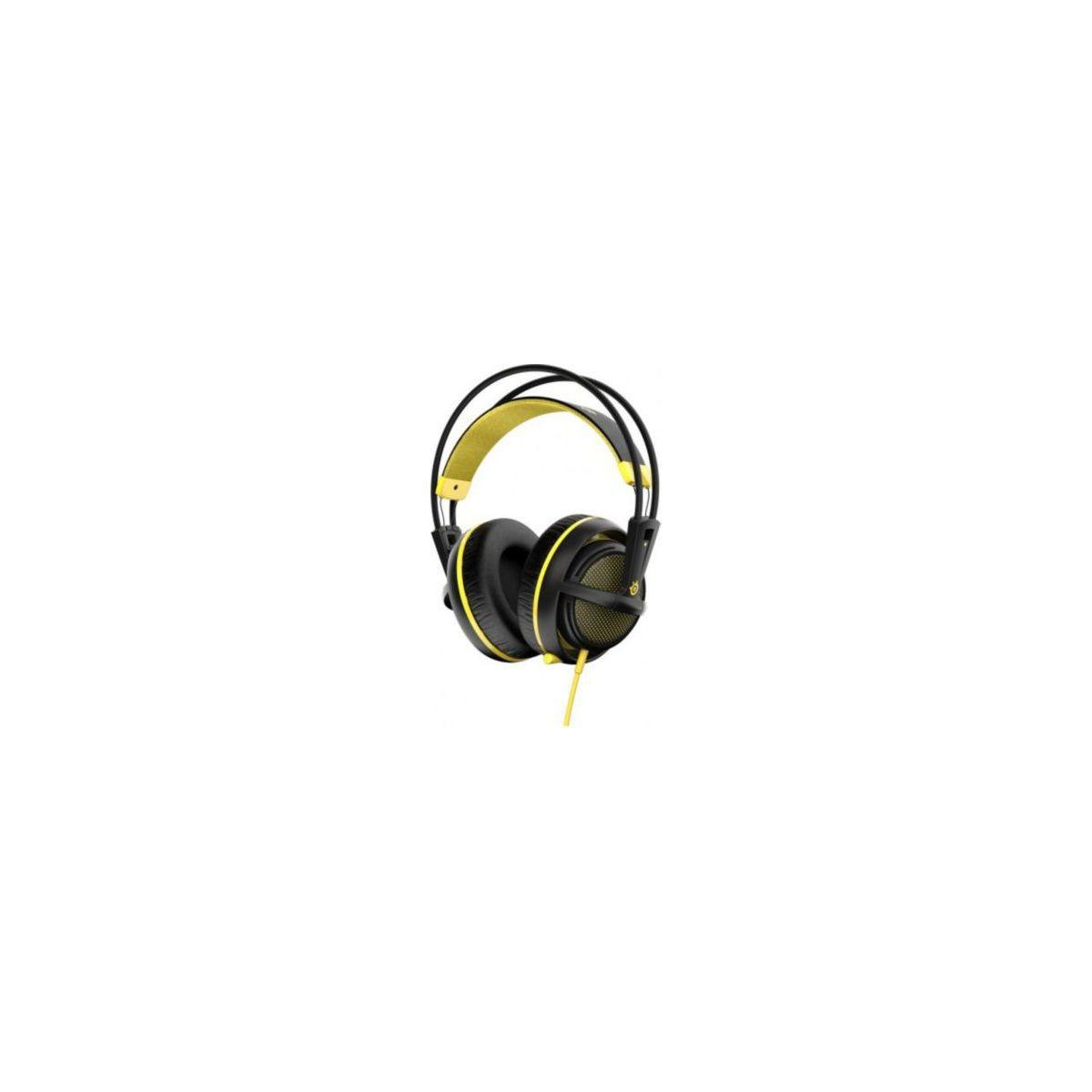 Casque micro gamer steelseries siberia 200 proton yellow (photo)