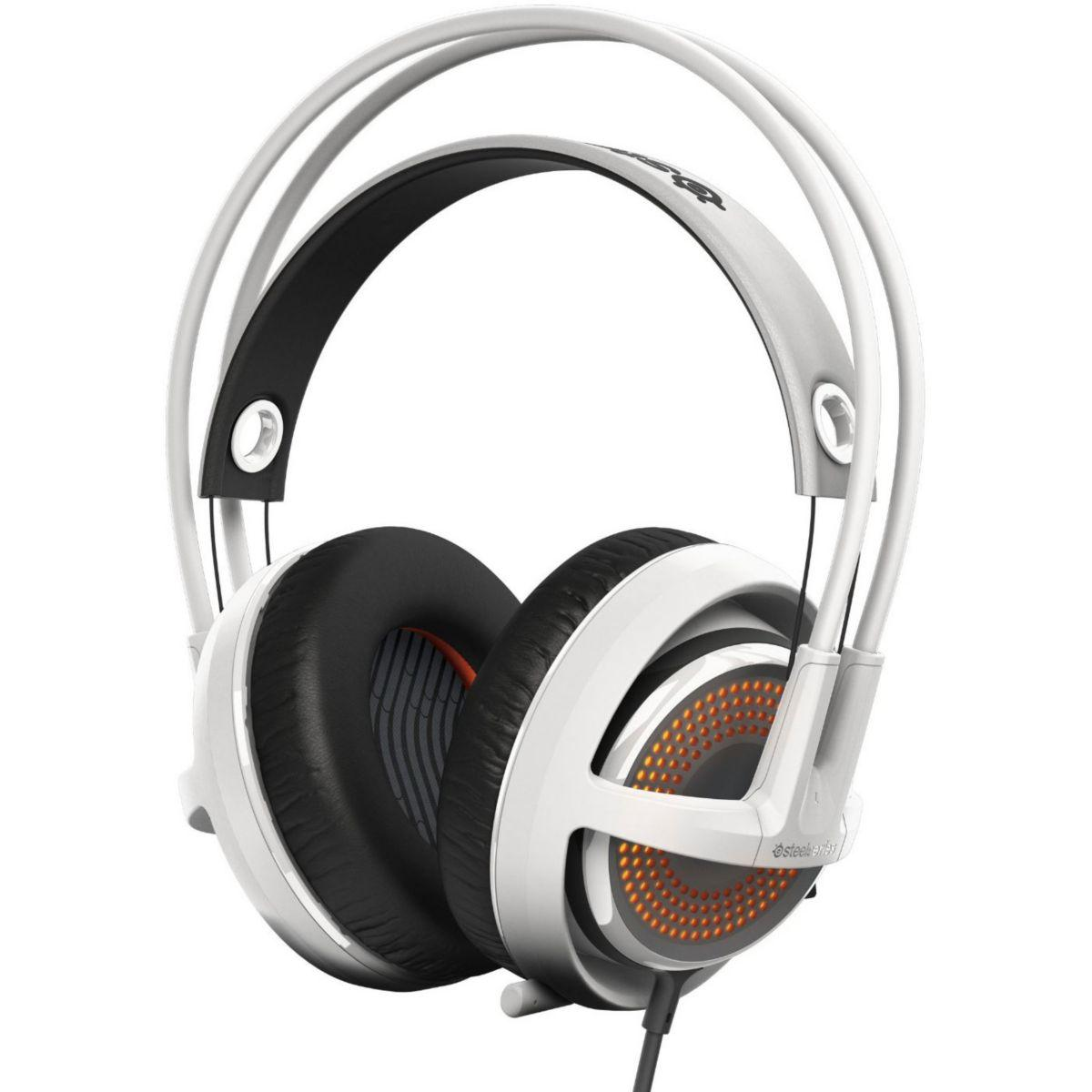 Casque micro gamer steelseries siberia 350 white (photo)