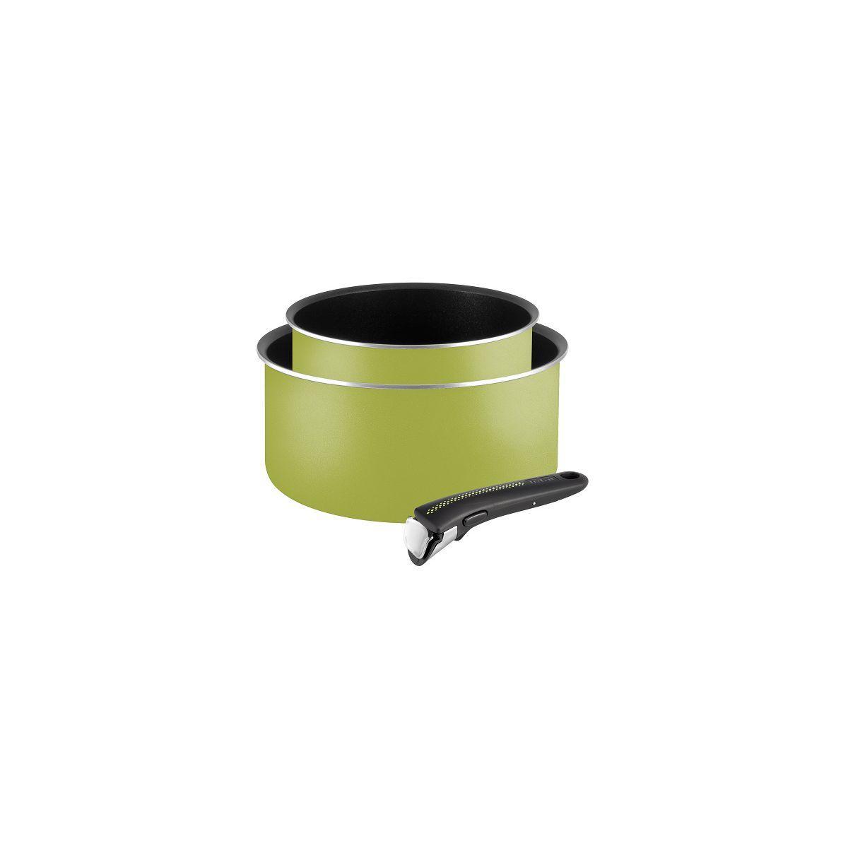 Batterie de casseroles tefal casseroles ingenio essential vert 3 pces - 20% de remise imm�diate avec le code : fete20 (photo)