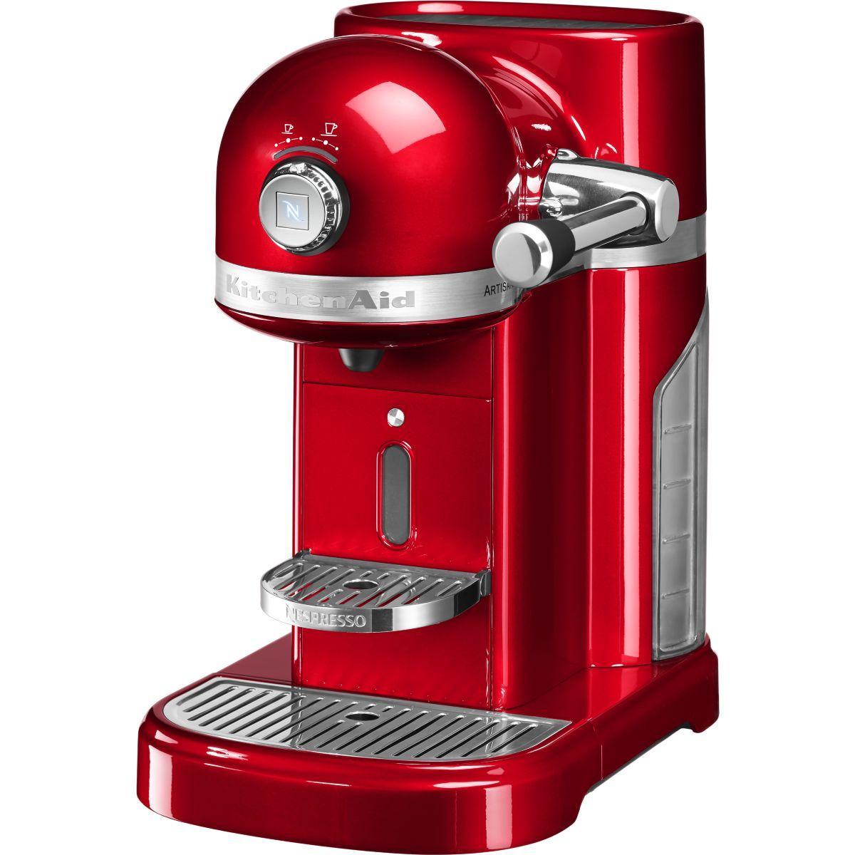 Nespresso kitchenaid 5kes0503eer/5 rouge empire - livraison offerte : code premium (photo)