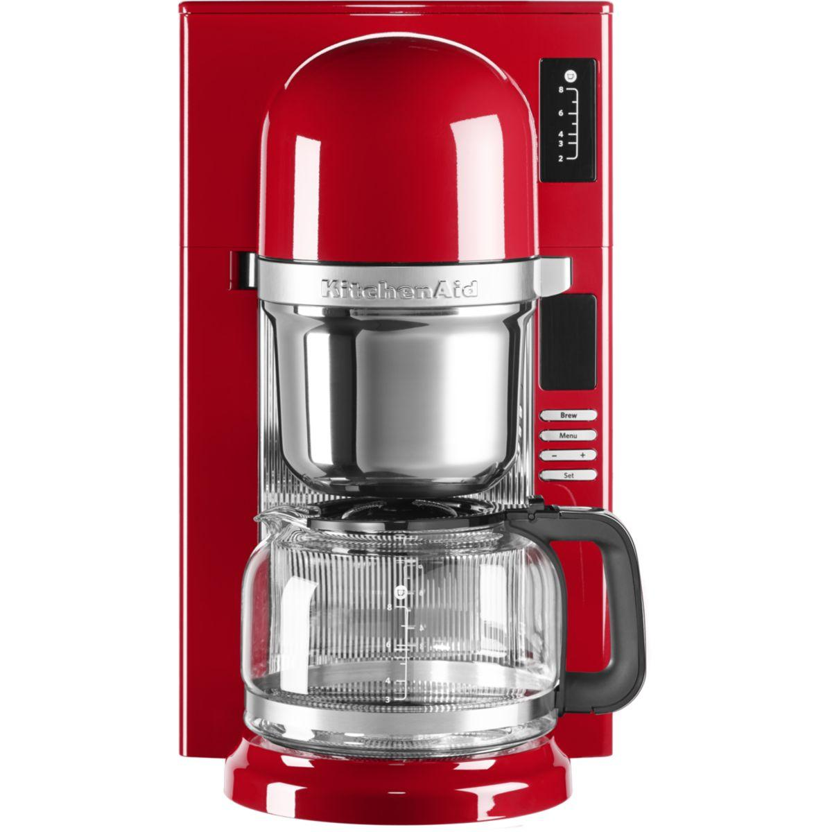 Cafeti�re programmable kitchenaid 5kcm0802eer rouge empire (photo)